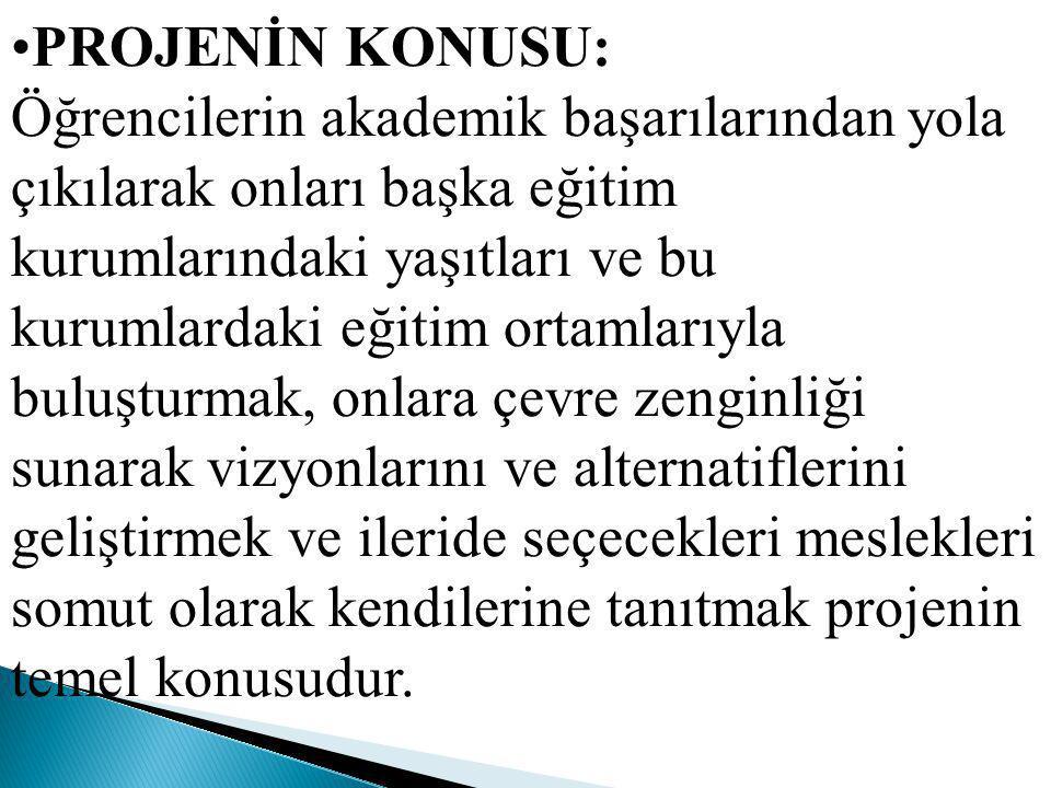 PORİJENİN BAŞLAMA VE BİTİŞ TARİHLERİ: 2012/2013 Eğitim öğretim yılı boyunca.
