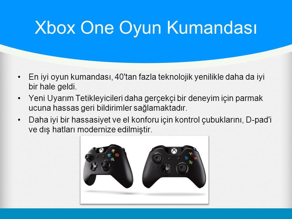 Xbox One Oyun Kumandası En iyi oyun kumandası, 40'tan fazla teknolojik yenilikle daha da iyi bir hale geldi. Yeni Uyarım Tetikleyicileri daha gerçekçi