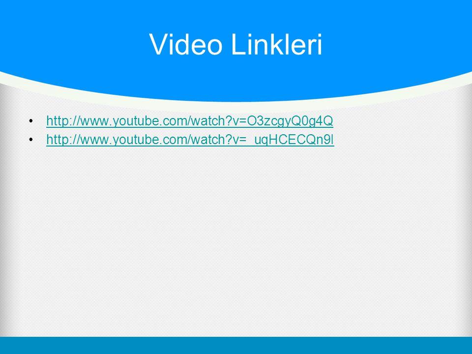 Video Linkleri http://www.youtube.com/watch?v=O3zcgyQ0g4Q http://www.youtube.com/watch?v=_uqHCECQn9I
