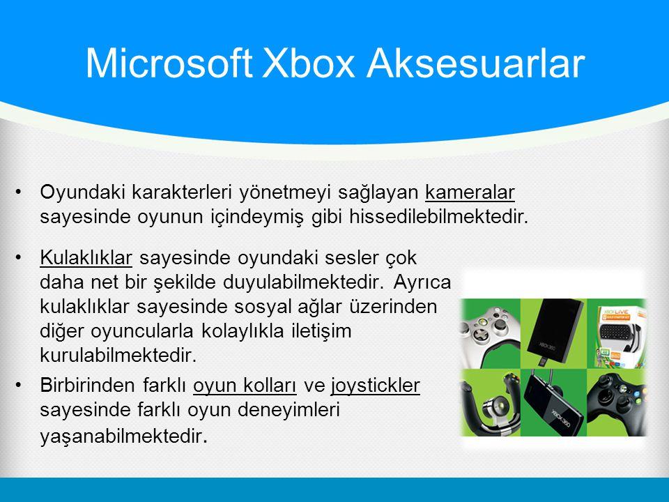 Microsoft Xbox Aksesuarlar Kulaklıklar sayesinde oyundaki sesler çok daha net bir şekilde duyulabilmektedir. Ayrıca kulaklıklar sayesinde sosyal ağlar