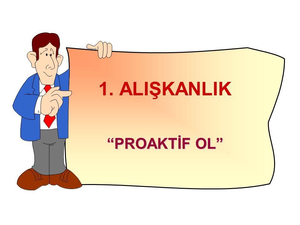 """1. ALIŞKANLIK """"PROAKTİF OL"""""""