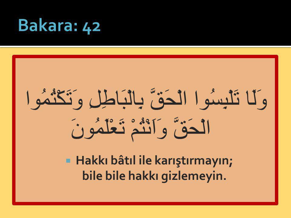 İman + amel-i salih  Namaz: bedenî / ferdî  Zekât: malî / içtimaî  Cemaat: içtimaî  Önceki ümmetlerde de bu ibadetler vardı