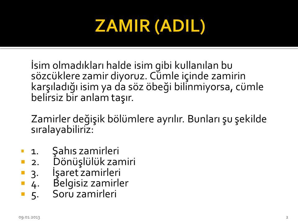 Konu: Zamir (Adıl)