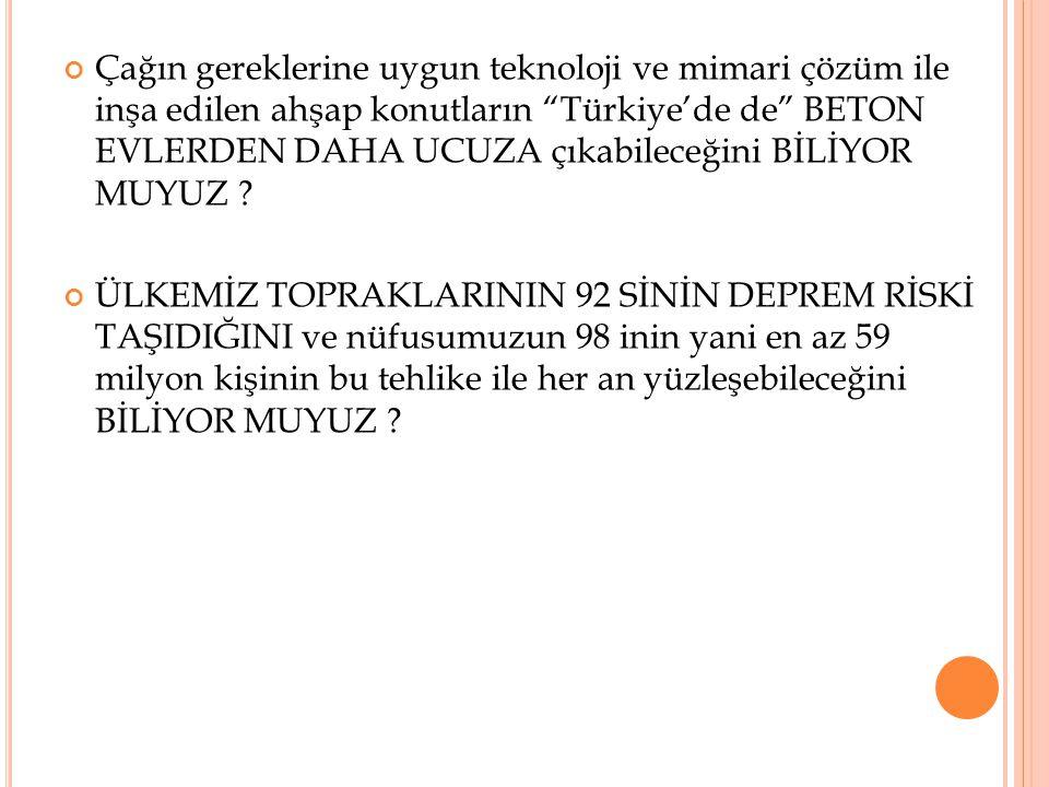 """Çağın gereklerine uygun teknoloji ve mimari çözüm ile inşa edilen ahşap konutların """"Türkiye'de de"""" BETON EVLERDEN DAHA UCUZA çıkabileceğini BİLİYOR MU"""