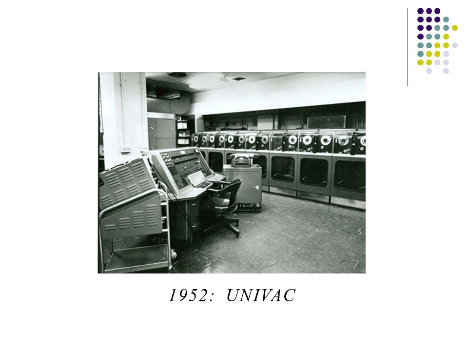 1952: UNIVAC