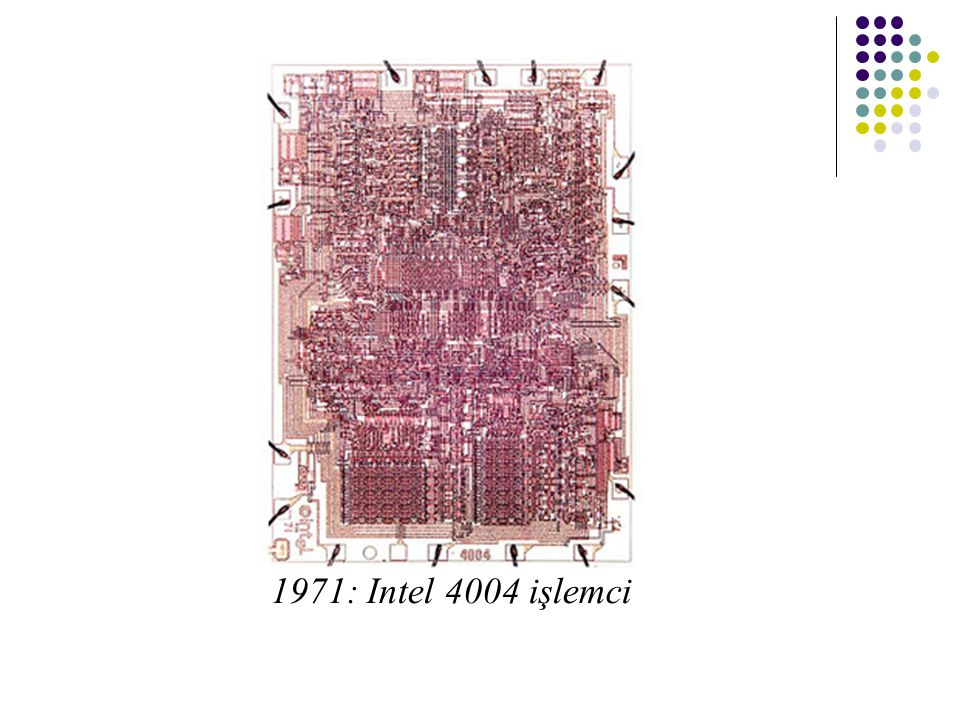 1971: Intel 4004 işlemci