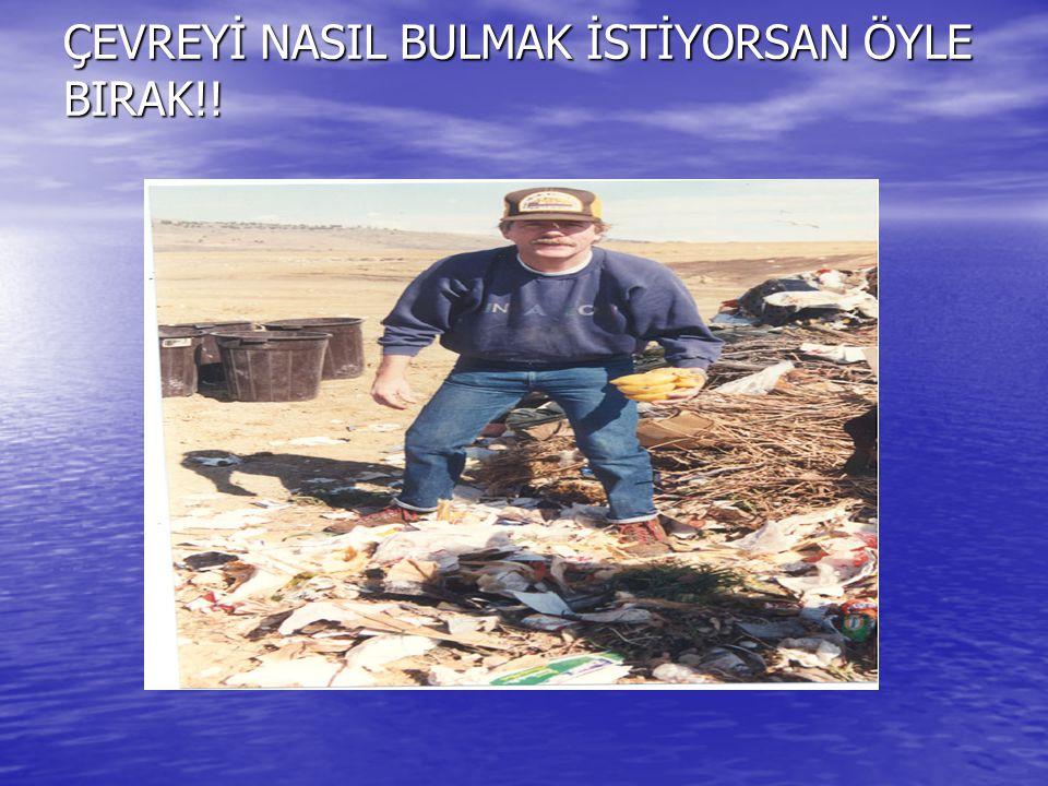 ÇEVREYİ NASIL BULMAK İSTİYORSAN ÖYLE BIRAK!!