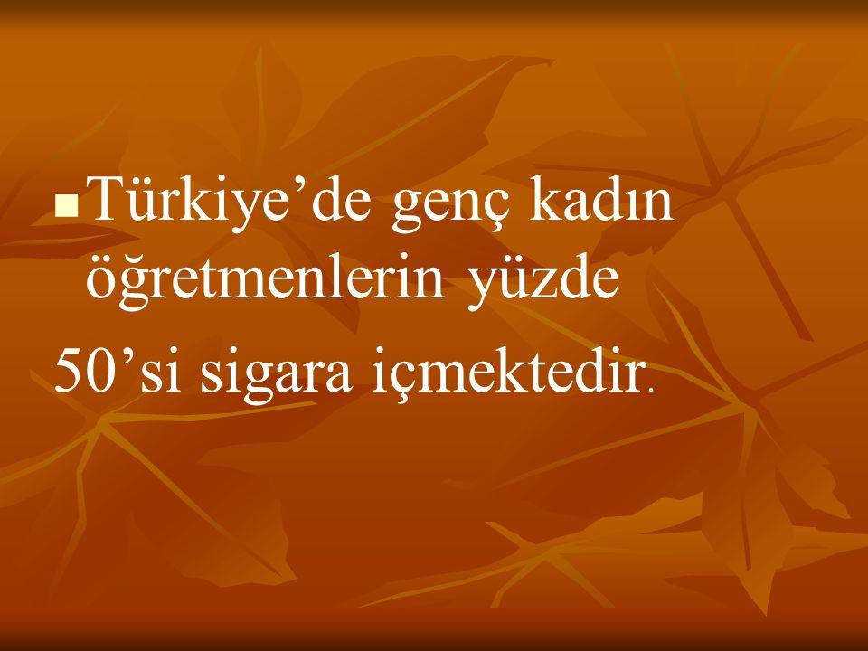 Türkiye'de genç kadın öğretmenlerin yüzde 50'si sigara içmektedir.