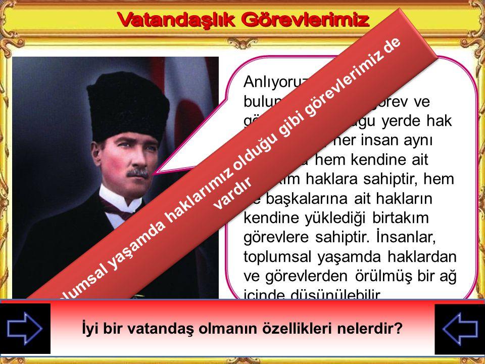 Cumhuriyet, egemenliğin kaynağının millete ait olduğunu kabul eden devlet şekli demektir.