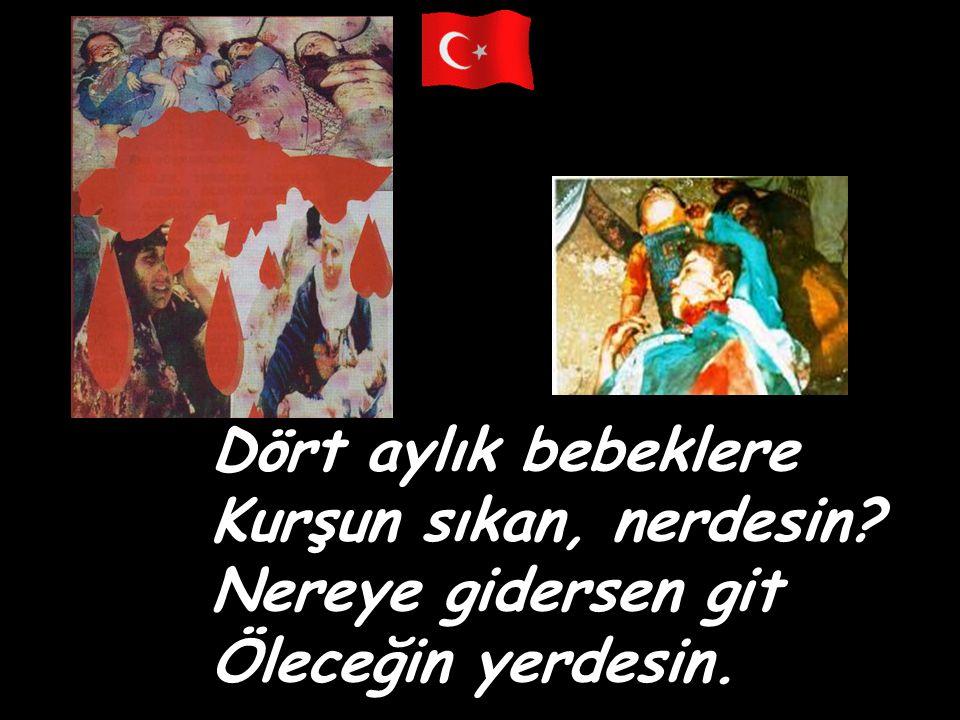 Meleküt aleminde Destan olan can bizim, Dalgalansın bayrağım Üstündeki kan bizim. Elazığ-1937