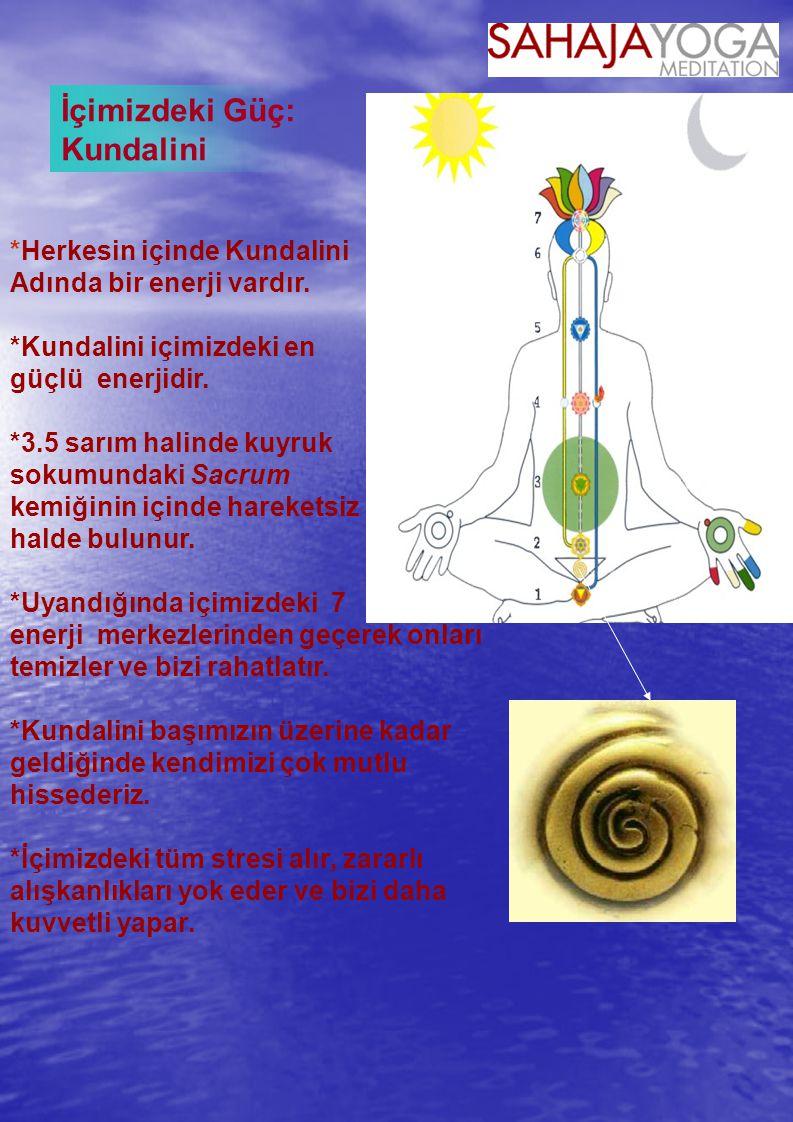 *Herkesin içinde Kundalini Adında bir enerji vardır.