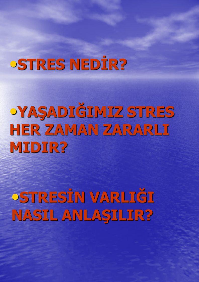 Hem olumlu hem de olumsuz yaşam olayları stres yaratabilir.