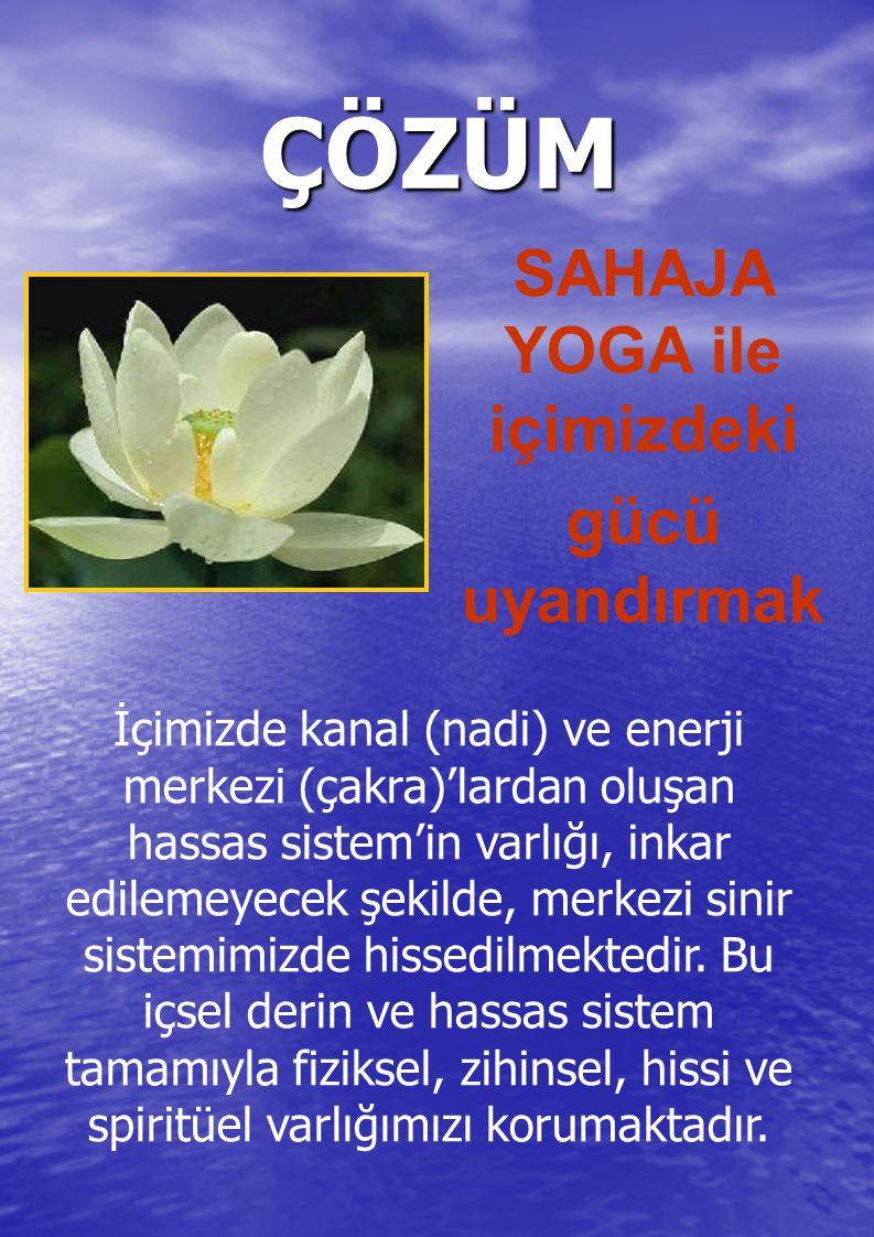 Sahaja Yoga Nedir.'Sahaja' = Kendiliğinden 'Yoga' = Evrensel sevgi enerjisiyle,bütünleşmek.