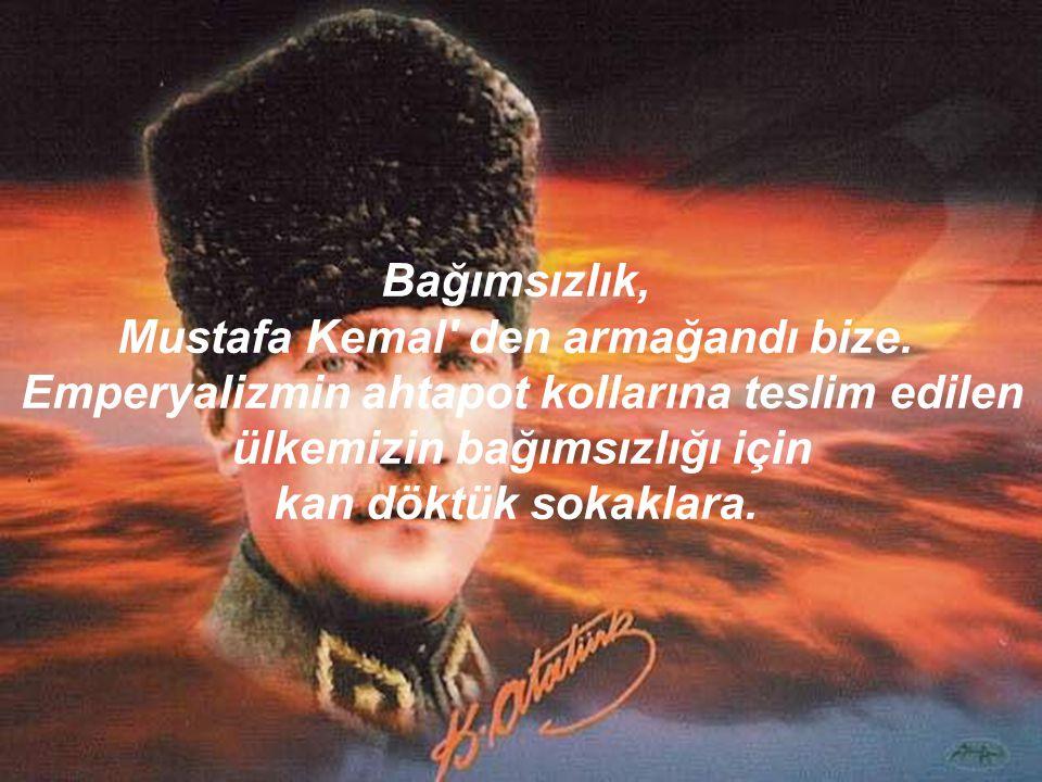 Giresun'daki yoksul köylüler, sizin için öldük. Ege'deki tütün işçileri, sizin için öldük. Doğu'daki topraksız köylüler, sizin için öldük. İstanbul'da