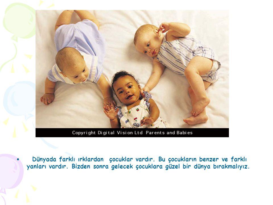 Dünyada farklı ırklardan çocuklar vardır.Bu çocukların benzer ve farklı yanları vardır.