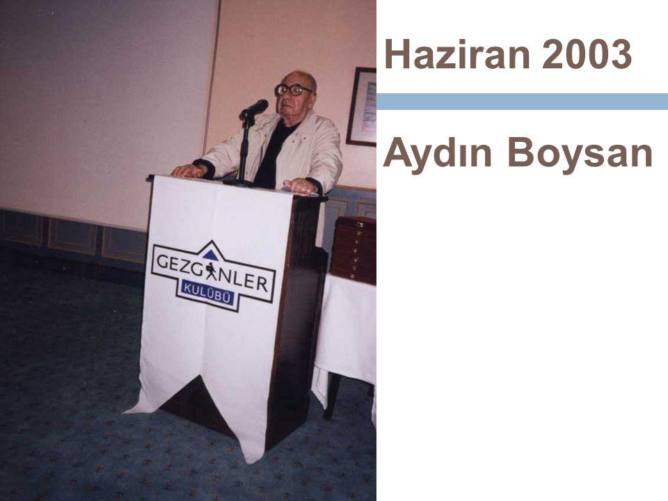 Haziran 2003 Aydın Boysan