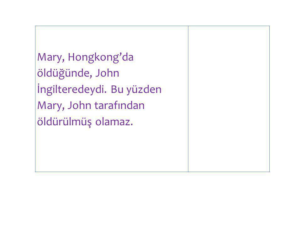 Mary, Hongkong'da öldüğünde, John İngilteredeydi.