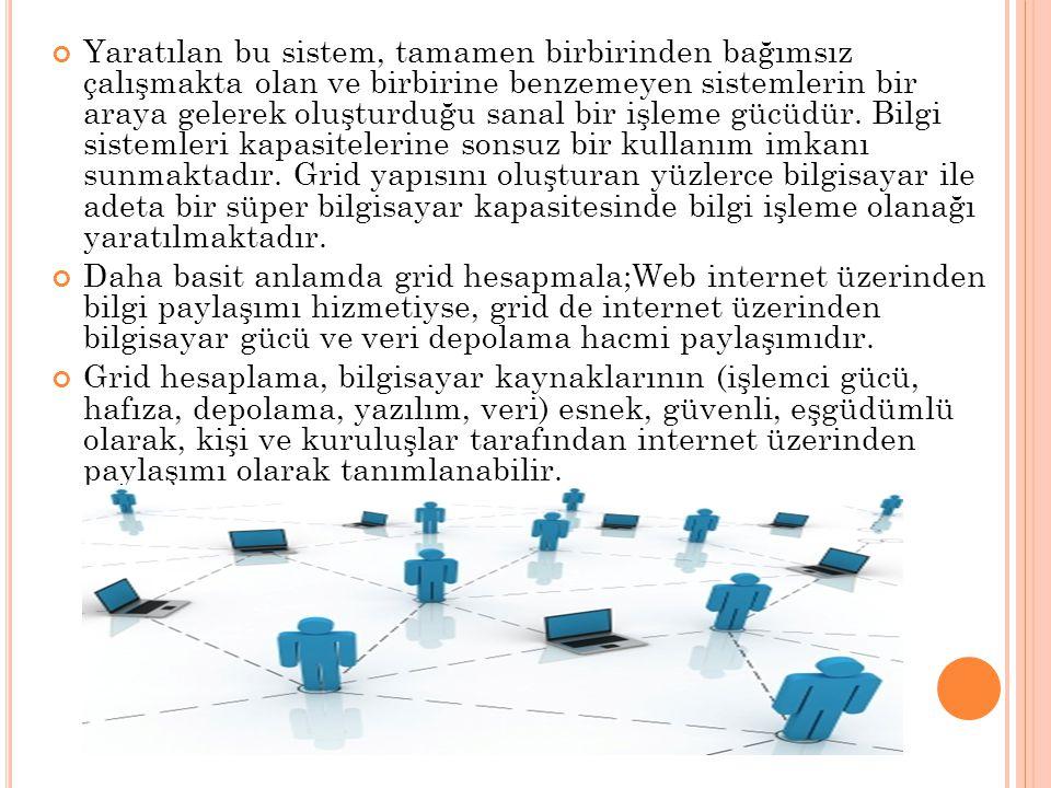 Yaratılan bu sistem, tamamen birbirinden bağımsız çalışmakta olan ve birbirine benzemeyen sistemlerin bir araya gelerek oluşturduğu sanal bir işleme g
