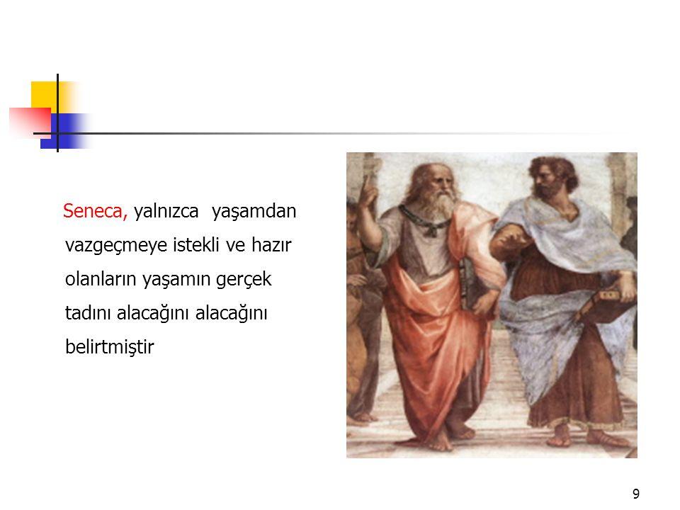 Cicero, felsefe yapmanın ölüme hazırlanmak olduğunu söylemiştir. 10