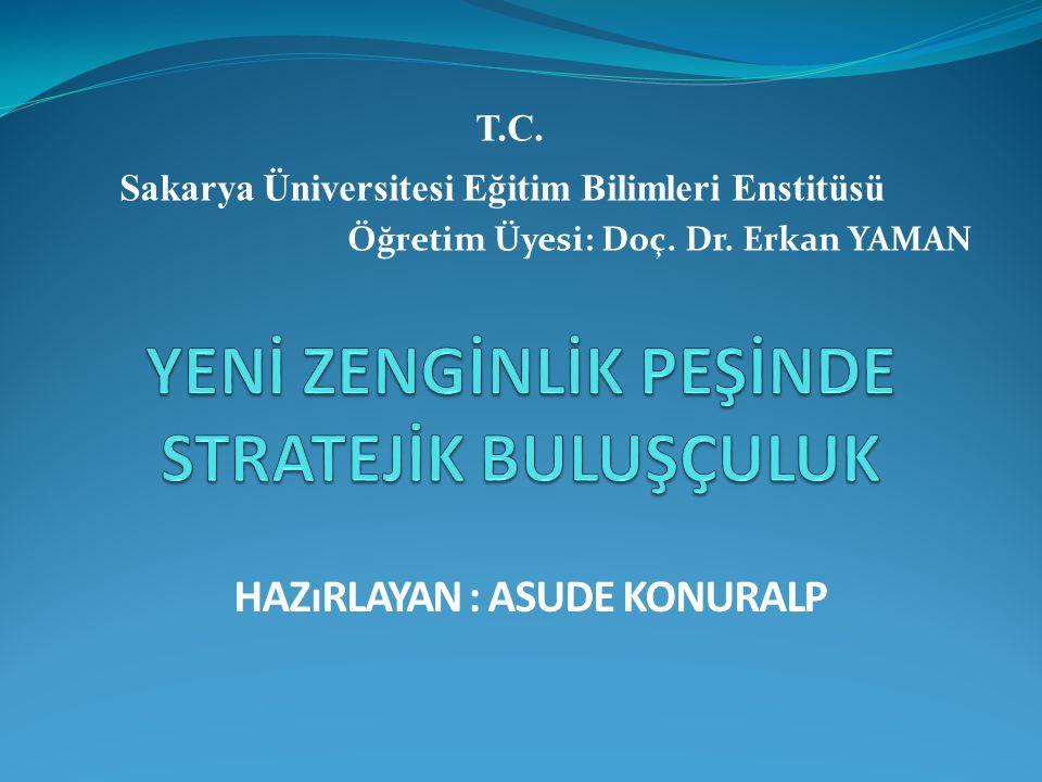 T.C. Sakarya Üniversitesi Eğitim Bilimleri Enstitüsü Öğretim Üyesi: Doç. Dr. Erkan YAMAN HAZıRLAYAN : ASUDE KONURALP