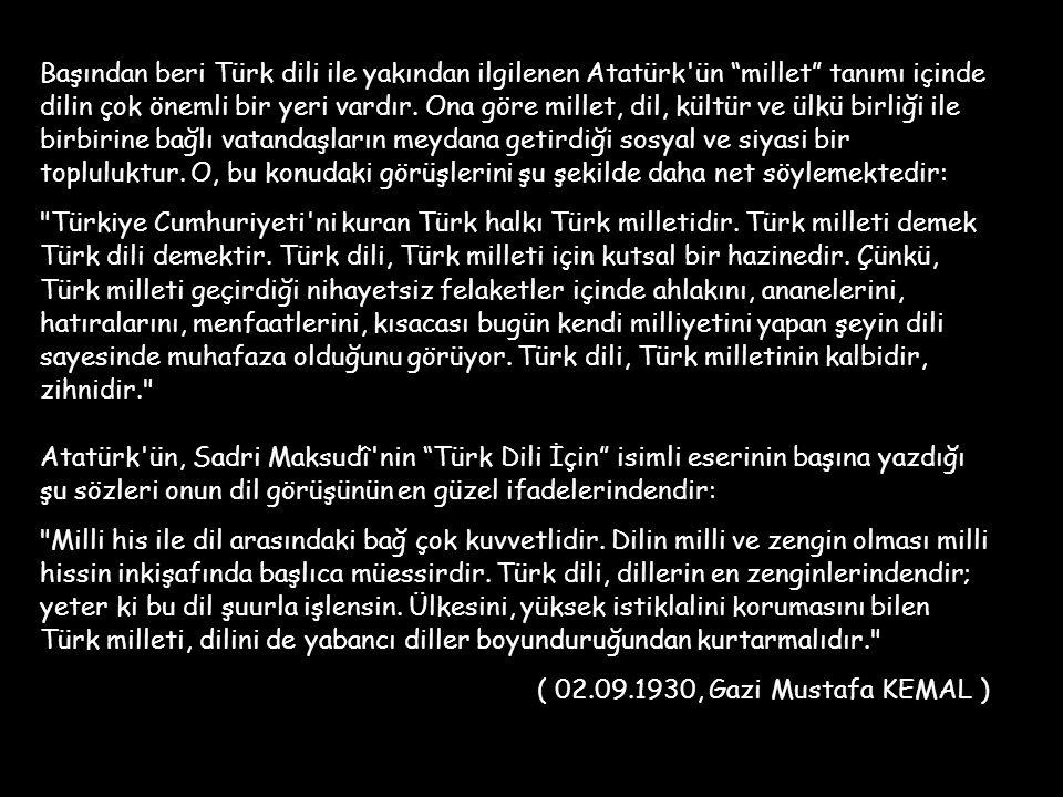 TÜRK DİLİ ÜZERİNE Bu sunumda size Türk Dili ile ilgili ilginç bulacağınız bazı görüşleri aktarmak istiyorum.