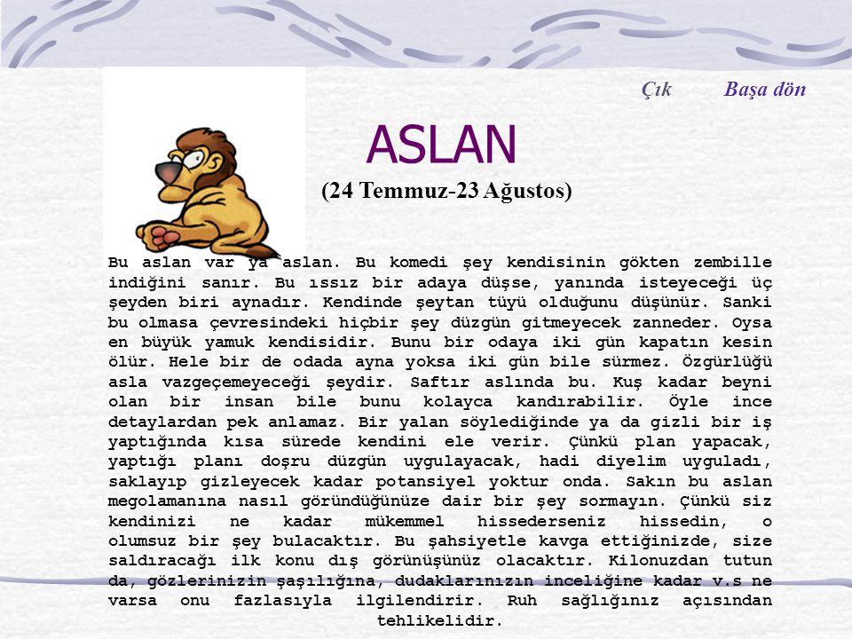 ASLAN Bu aslan var ya aslan.Bu komedi şey kendisinin gökten zembille indiğini sanır.