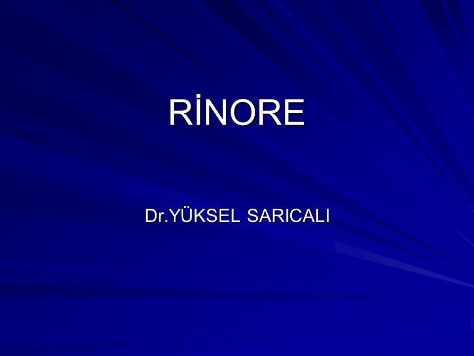 RİNORE Dr.YÜKSEL SARICALI