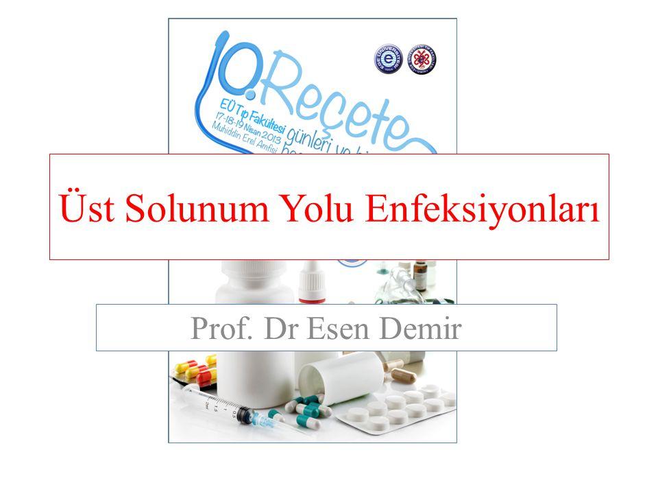 Üst Solunum Yolu Enfeksiyonları Prof. Dr Esen Demir