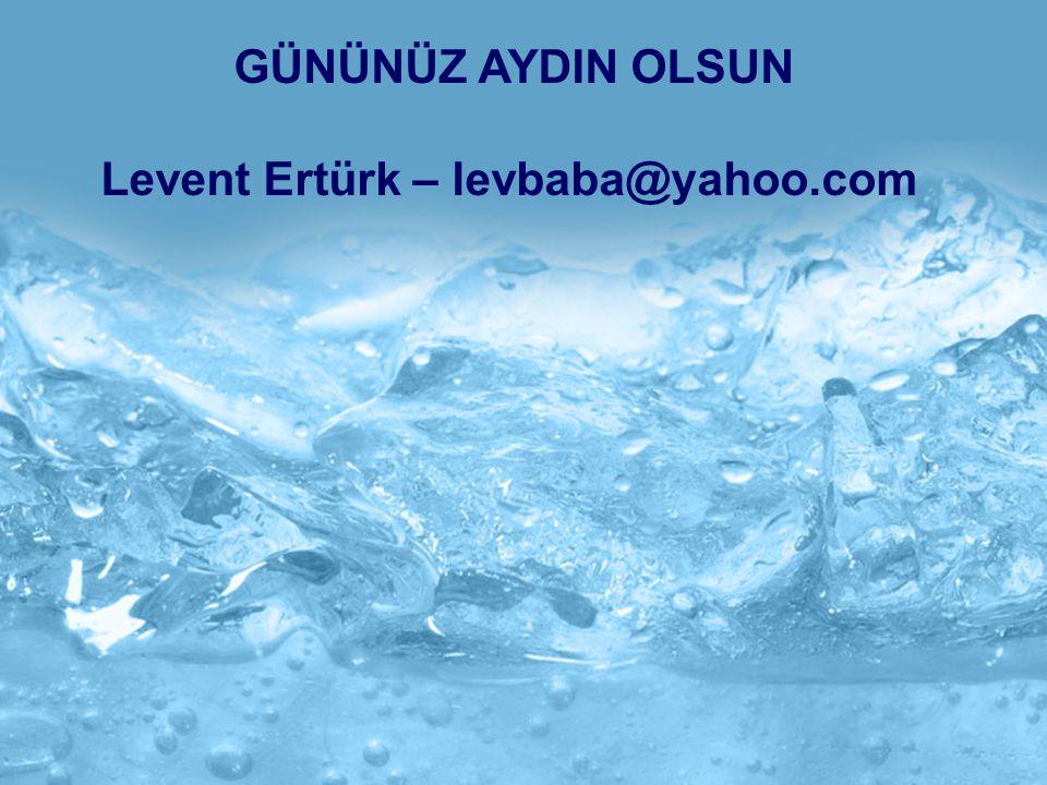 GÜNÜNÜZ AYDIN OLSUN Levent Ertürk – levbaba@yahoo.com