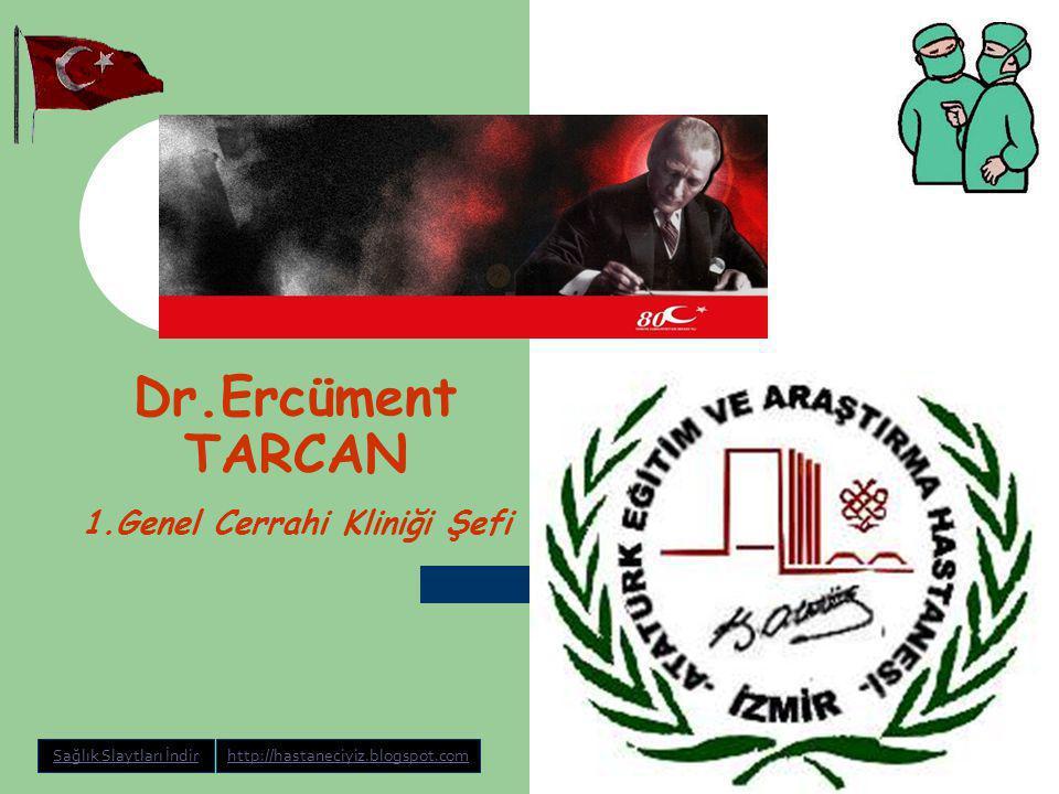 Dr.Ercüment TARCAN Kanser biyolojisi ve Tümör marker'ları 3 Aralık 2008