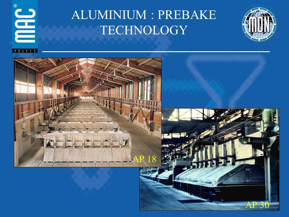ALUMINIUM : PREBAKE TECHNOLOGY AP 18 AP 30