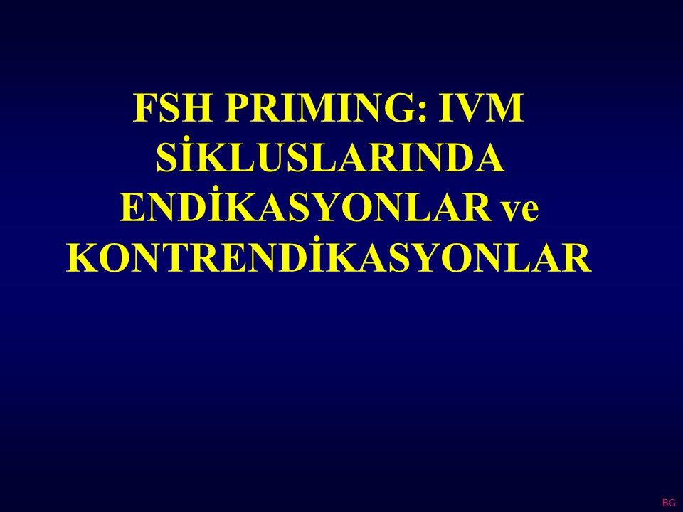 FSH PRIMING: IVM SİKLUSLARINDA ENDİKASYONLAR ve KONTRENDİKASYONLAR BG