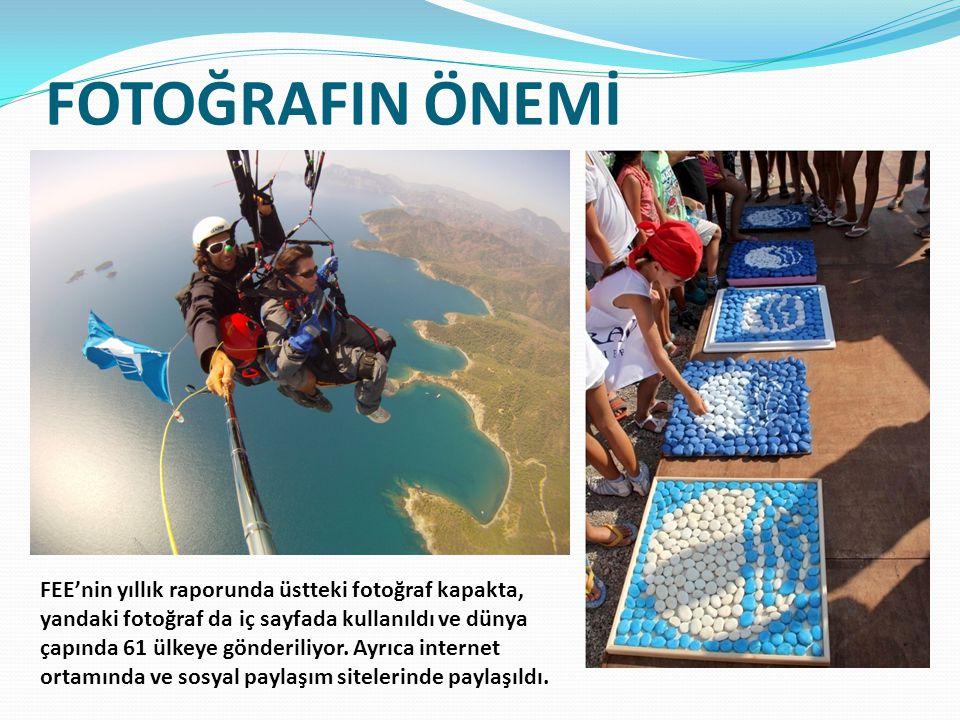 FOTOĞRAFIN ÖNEMİ FEE'nin yıllık raporunda üstteki fotoğraf kapakta, yandaki fotoğraf da iç sayfada kullanıldı ve dünya çapında 61 ülkeye gönderiliyor.