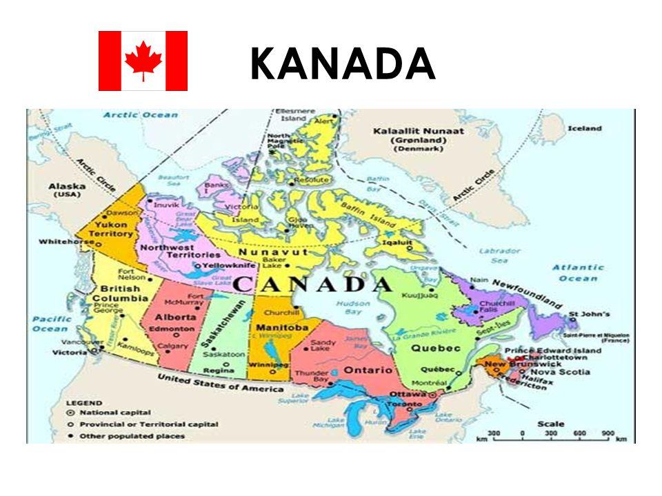 Kısaca Kanada Kanada, Rusya dan sonra dünyanın ikinci en geniş ülkesidir.Rusya Yüzölçümü 10 milyon kilometrekare'dir.