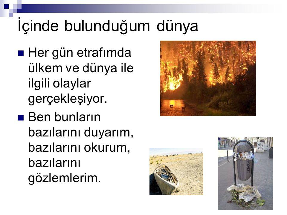 Geleceğimiz tehlikede Orman yangınları, doğayı, canlıları ve bizim geleceğimizi tehdit ediyor.
