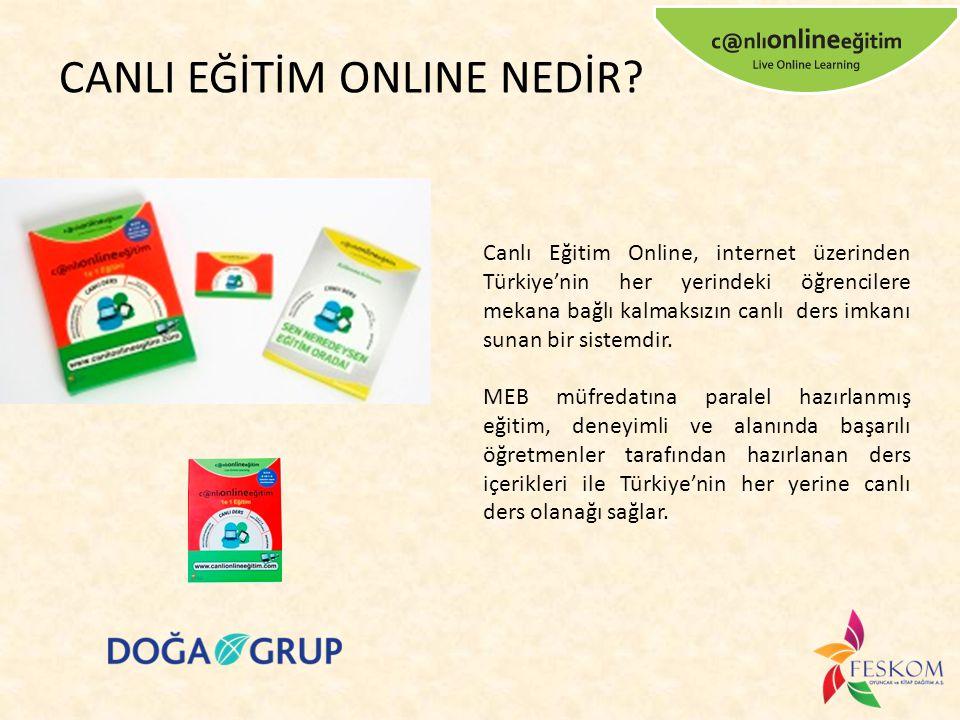 Canlı Eğitim Online, internet üzerinden Türkiye'nin her yerindeki öğrencilere mekana bağlı kalmaksızın canlı ders imkanı sunan bir sistemdir. MEB müfr