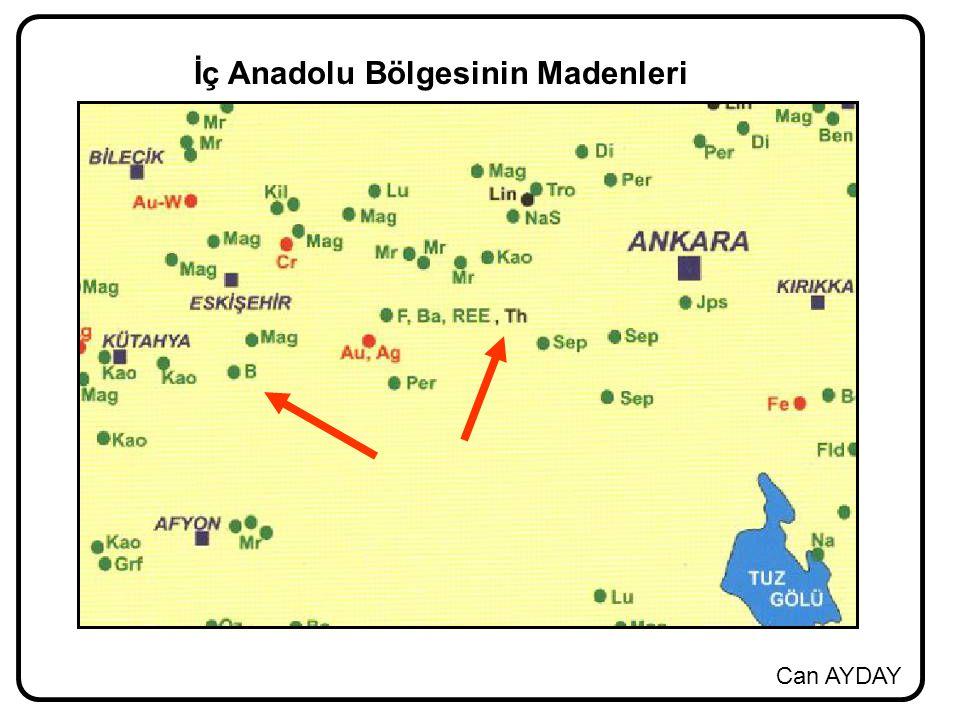 İç Anadolu Bölgesinin Madenleri