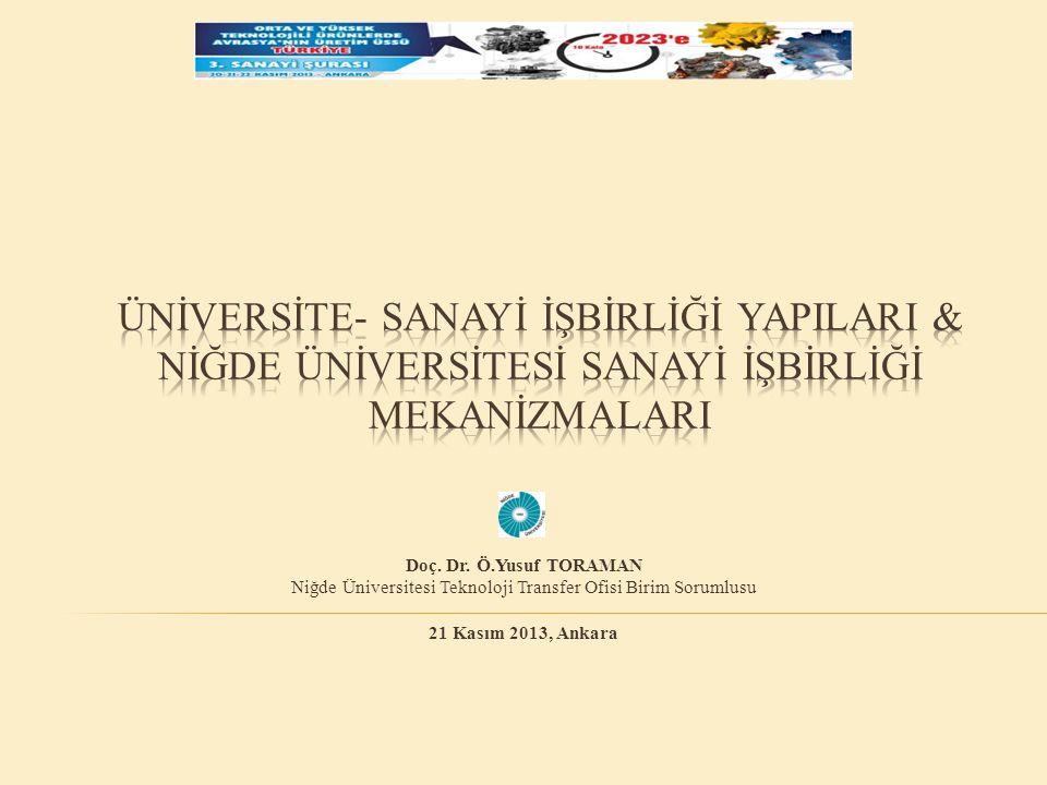  Üniversite-Sanayi İşbirliği Yapıları  Dünyadaki Teknopark Gelişimi  Ülkemizdeki Teknopark Gelişimi  Niğde Üniversitesi Sanayi İşbirliği Mekanizmaları  Sonuçlar