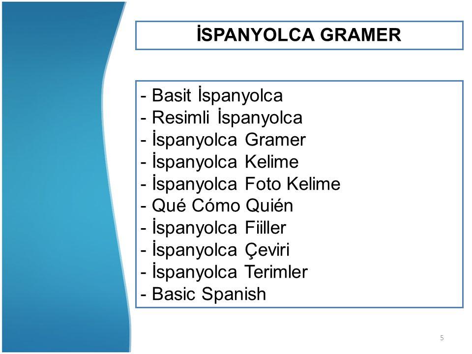 5 İSPANYOLCA GRAMER - Basit İspanyolca - Resimli İspanyolca - İspanyolca Gramer - İspanyolca Kelime - İspanyolca Foto Kelime - Qué Cómo Quién - İspany