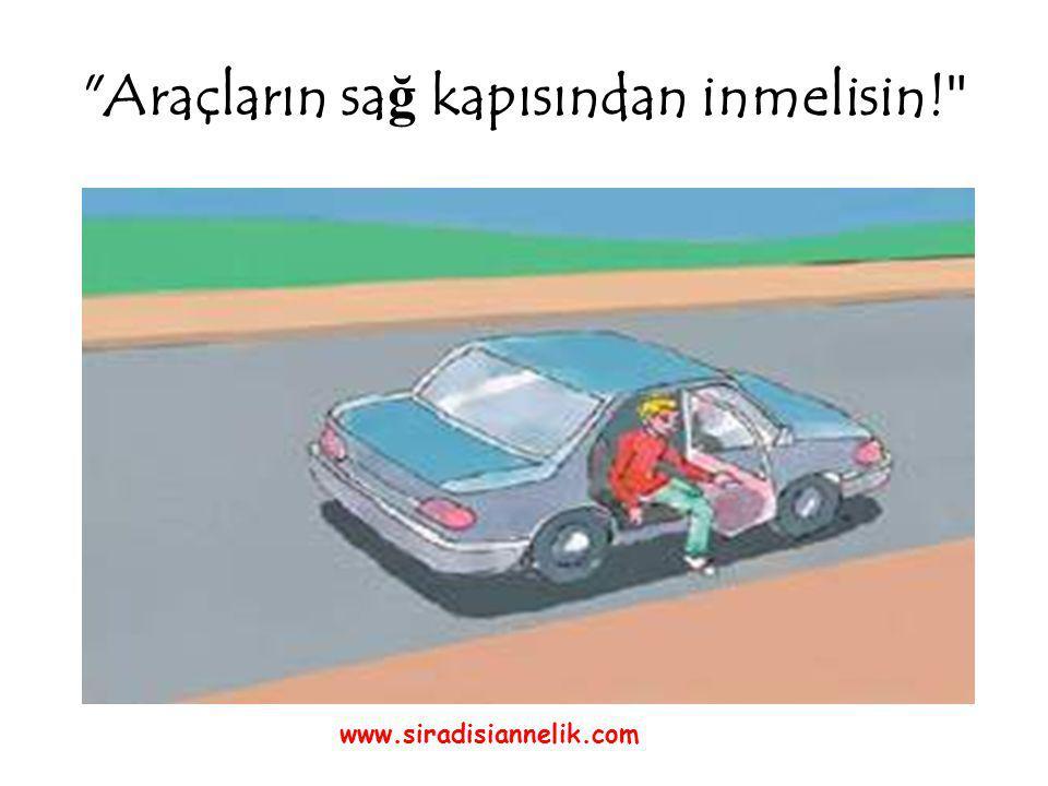 Araçların sa ğ kapısından inmelisin! www.siradisiannelik.com