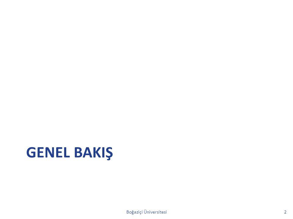 GENEL BAKIŞ Boğaziçi Üniversitesi2