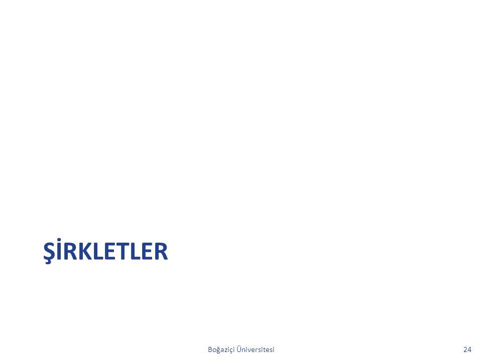 ŞİRKLETLER Boğaziçi Üniversitesi24