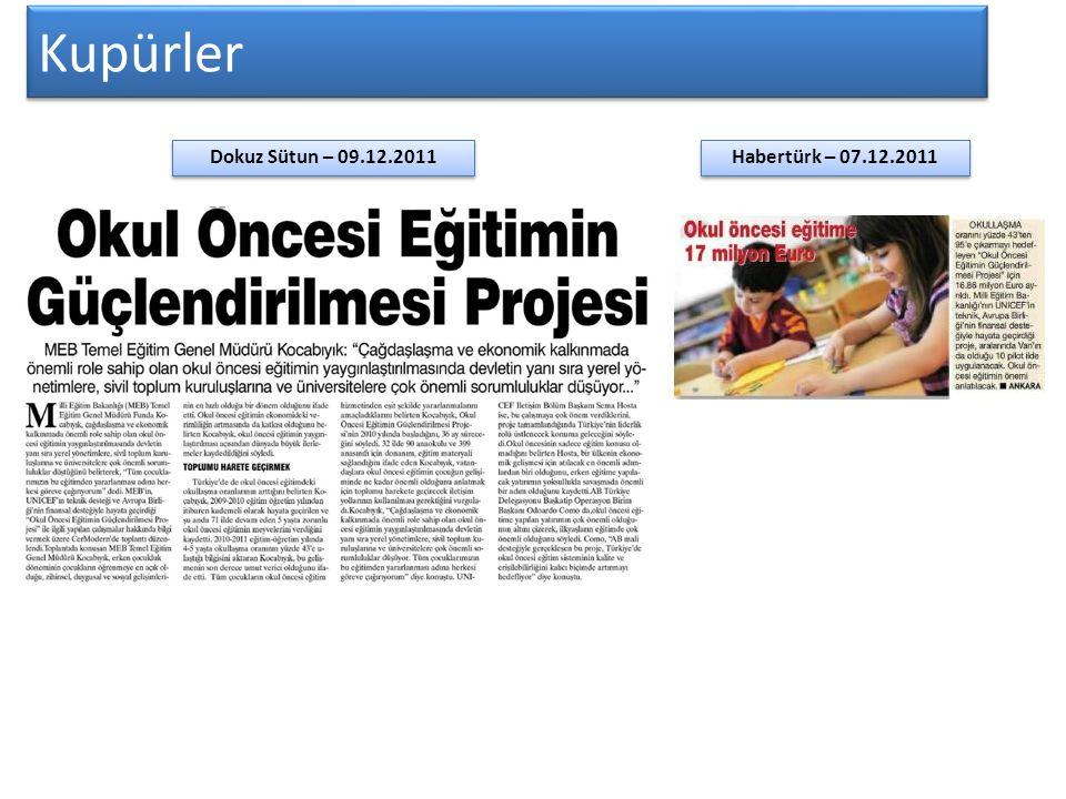 Kupürler Habertürk – 07.12.2011 Dokuz Sütun – 09.12.2011