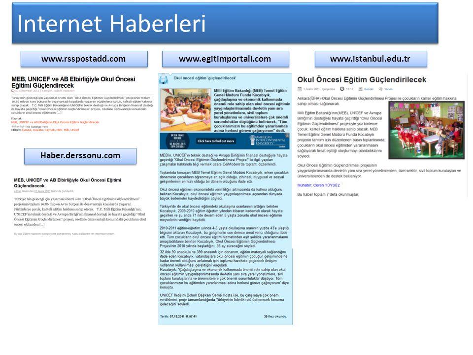 Internet Haberleri www.rsspostadd.com www.egitimportali.com www.istanbul.edu.tr Haber.derssonu.com