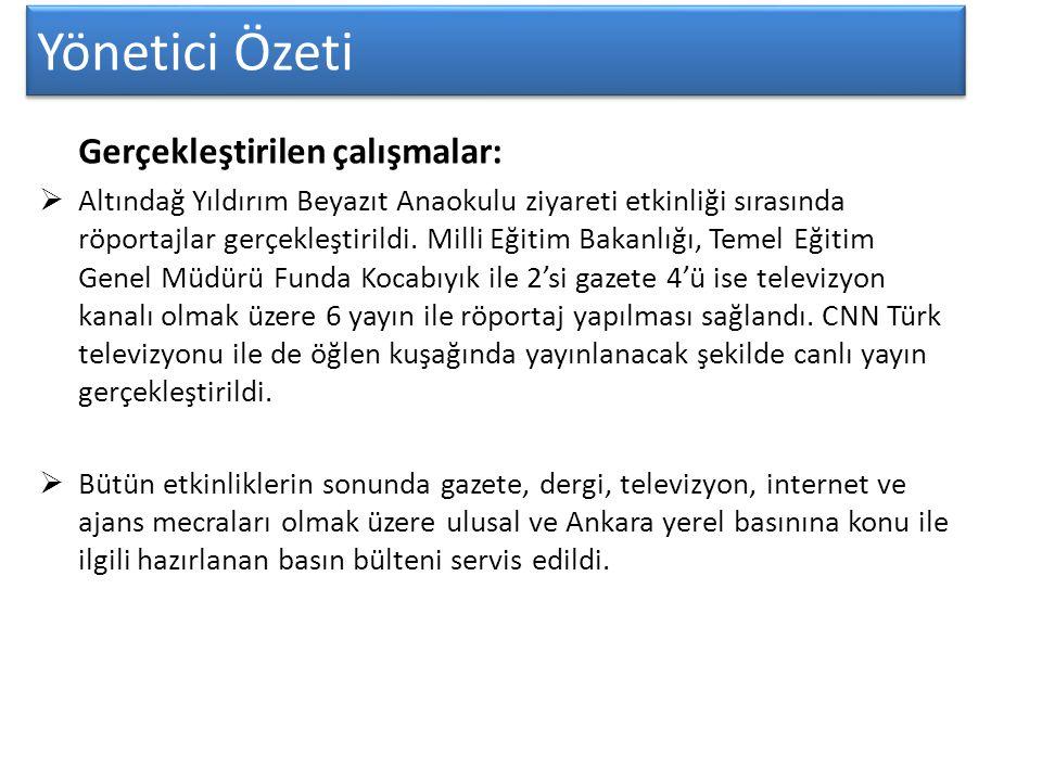 Yönetici Özeti BASIN DAVET MEKTUBU Sayın Basın Mensubu, T.C.