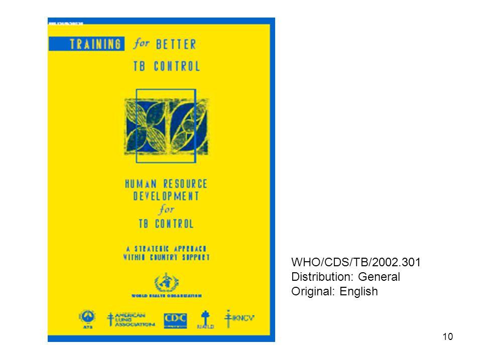 10 WHO/CDS/TB/2002.301 Distribution: General Original: English