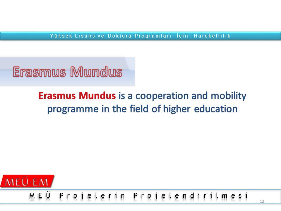 11 1 1 2 2 3 3 Doctorate - PhD Master-MsC Bachelor ErasmusMundus Erasmus