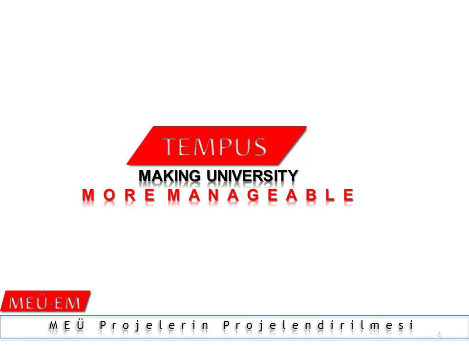 3 TEMPUS – YÖ- MODERNİZASYONU 2004-2013 7FP-7.ÇERÇEVE PROGRAMI