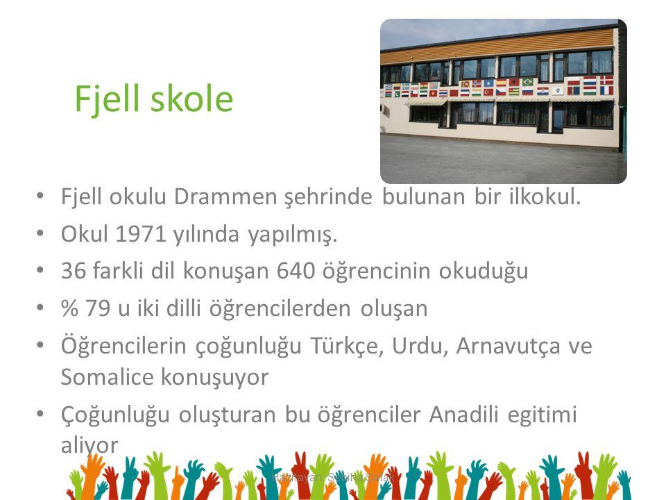 Fjell skole Fjell okulu Drammen şehrinde bulunan bir ilkokul. Okul 1971 yılında yapılmış. 36 farkli dil konuşan 640 öğrencinin okuduğu % 79 u iki dill