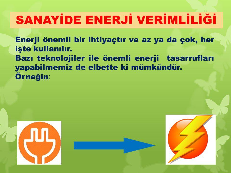 25 Enerji önemli bir ihtiyaçtır ve az ya da çok, her işte kullanılır. Bazı teknolojiler ile önemli enerji tasarrufları yapabilmemiz de elbette ki mümk